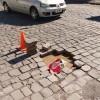 Buraco em avenida movimentada está há mais de uma semana prejudicando o trânsito