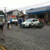 Acidente na Luiz Segalla deixa motoqueiro ferido