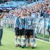 PERTO DO TÍTULO Grêmio goleia o Brasil de Pelotas na Arena e tem vantagem para o jogo de volta