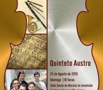Quinteto Austro é a atração deste domingo nos Concertos ao Entardecer