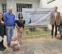 SIMECS e Sindicato dos Metalúrgicos se unem em ação social para auxiliar famílias de ex-funcionários da indústria