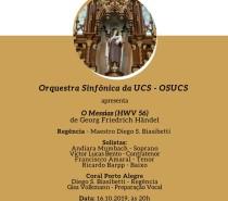 Orquestra Sinfônica da UCS realiza concerto na Catedral Diocesana durante a Festa de Santa Teresa D'Ávila