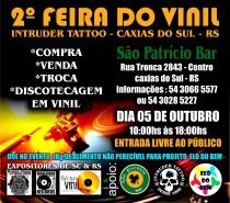 Caxias sediará a 2ª Feira do Vinil Intruder Tatto