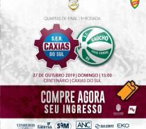 Caxias inicia venda de ingressos para partida de ida das quartas de final da Copa Seu Verardi