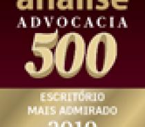 Zulmar Neves Advocacia é agraciada com o selo Análise Advocacia 500 pelo 13º ano consecutivo