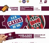 Caxias divulga serviço de jogo para confronto diante do Brasil