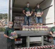 Fröhlich doa 5 toneladas de alimentos para comunidade de Porto Alegre
