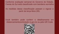 CDL Caxias do Sul mostra preocupação com novo fechamento e anúncio da bandeira vermelha