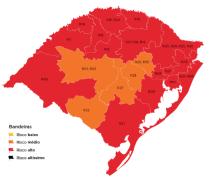 Mapa preliminar da 15ª rodada do Distanciamento Controlado tem 16 regiões vermelhas