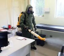Mais de 27 mil litros de peróxido de hidrogênio já foram utilizados para desinfecção de espaços públicos