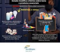 Estado modifica critérios sobre bens e produtos essenciais A comercialização de insumos para atividades essenciais passa a ser permitida.
