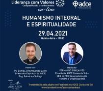 Live da ADCE Caxias do Sul falará sobre humanismo integral e espiritualidade, apresentando novo Orientador Espiritual da entidade