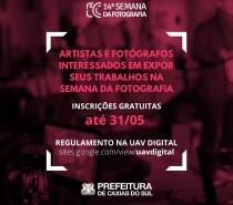 Interessados em expor seus trabalhos na 14ª Semana da Fotografia de Caxias do Sul podem enviar propostas até 31/05