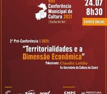 Inscrições abertas para a 2ª Pré-Conferência de Cultura