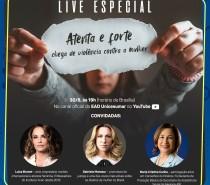 """EAD UniCesumar promove live especial hoje com o tema: """"Atenta e forte. Chega de violência contra a mulher"""""""